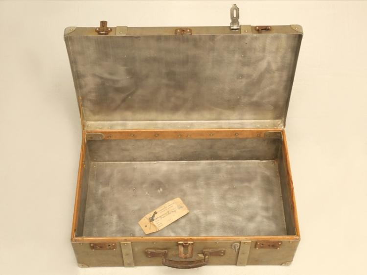 French Metal Suitcase