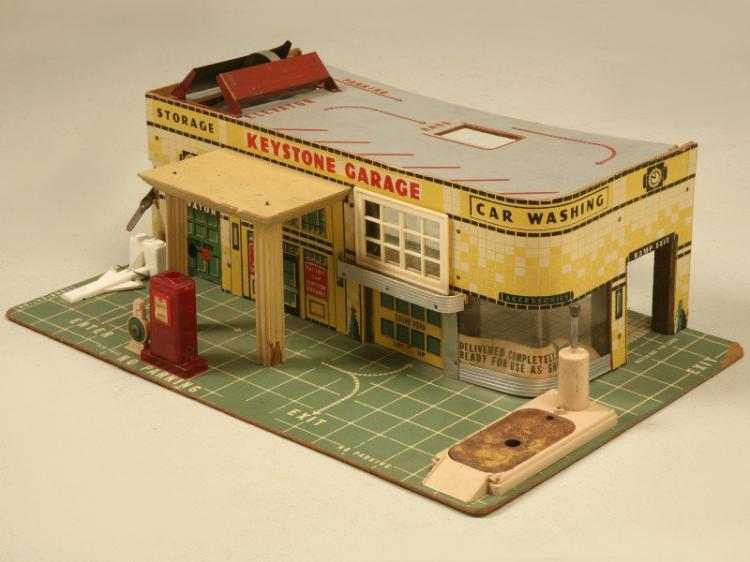Childs Keystone Toy Automobile Garage