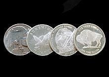 4-One Troy oz.Silver Rounds