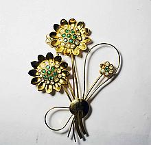 Gold Plated Sterling Silver Broach