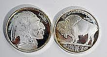 2- .999  1oz. Silver Rounds