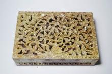 Hand Sculpted Marble Box, India
