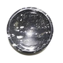 Small Black Marble Fossiliferous Bowl.    ZZ-841