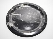 Black Marble Fossiliferous Plate