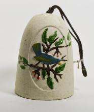 Pottery Bell with Bluebird Design