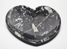 Imported Fossilerous Heart Shaped Bowl