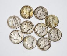 10 Mercury Dimes