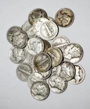 23 Mercury Dimes