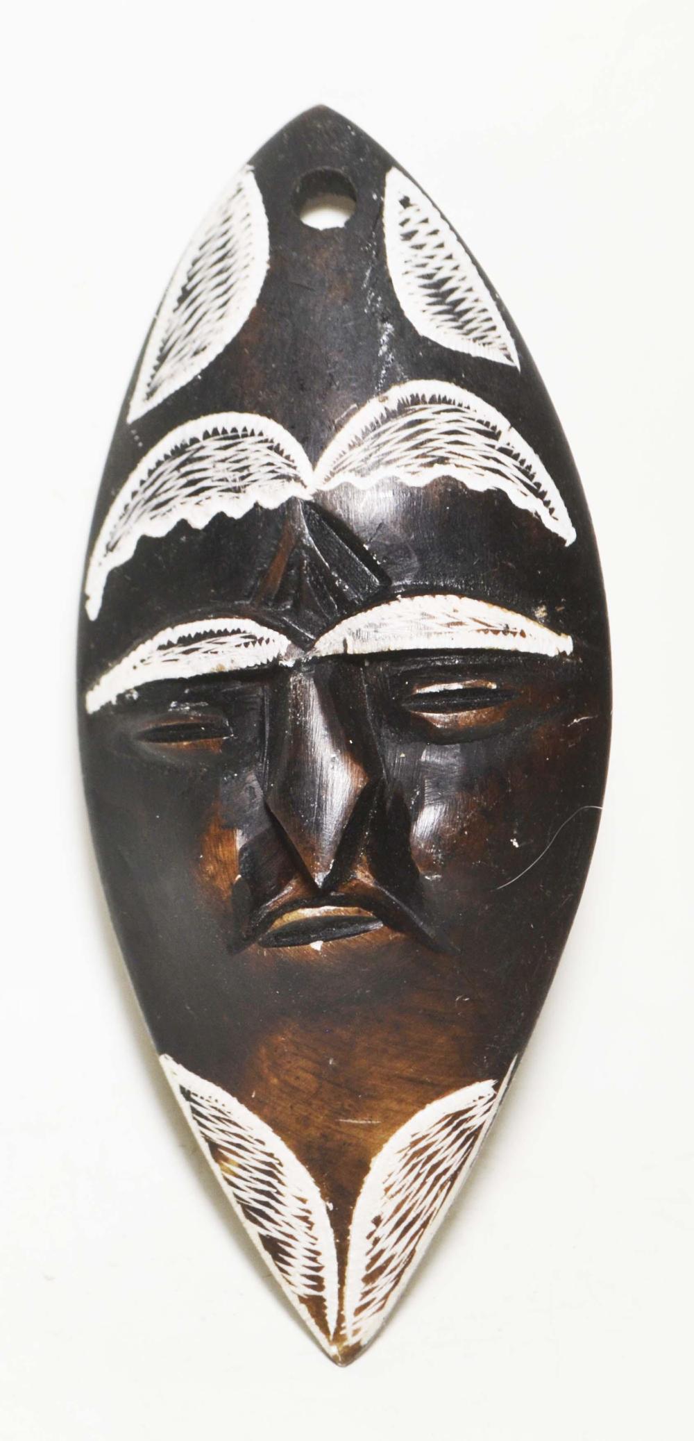 African Art-Alabaster, Tribal Mask
