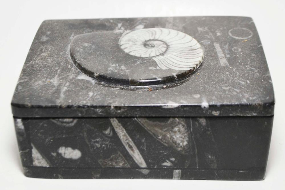Imported Black Marble Jewelry Box