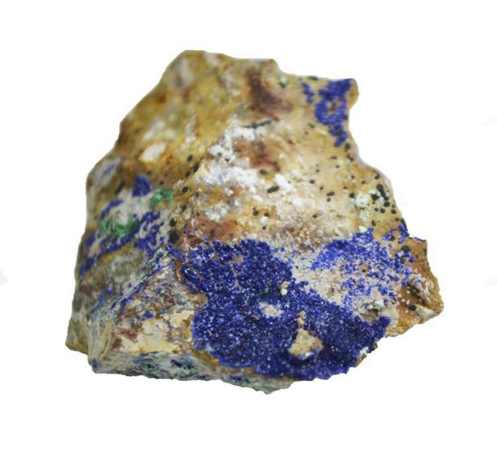 Deep Blue Azurite on Barite