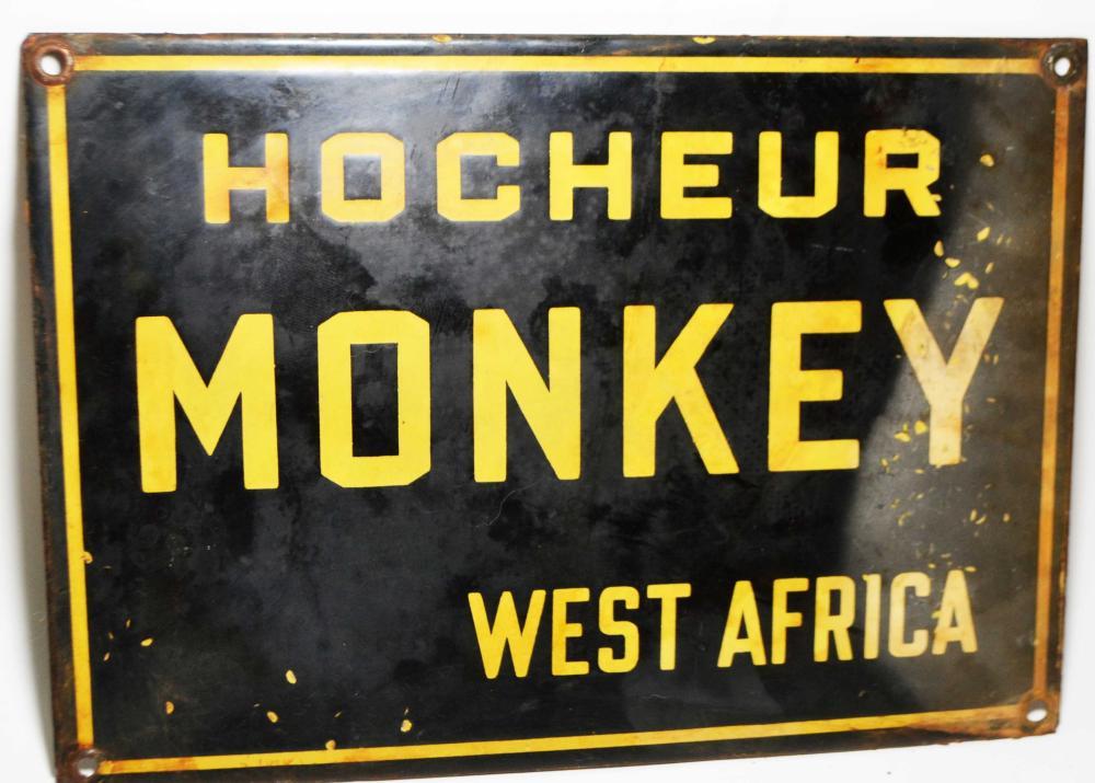 VintageVitreous Enamel Zoo Sign