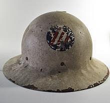 World War 2 Air Warden's Helmet