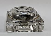 Vintage Heavy Glass Inkwell