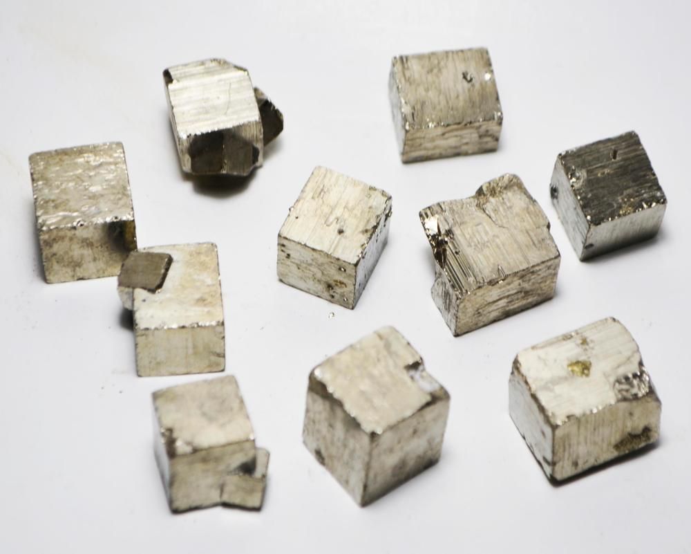 1 Iron Pyrite Cubic Crystal