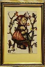 6- Vintage Marshall Fields Prints of Elves By Hummel