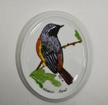 Hand Painted Sparrow Wall Plaque