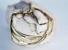Italian Made 14K Multi-strand 7in.Bracelet