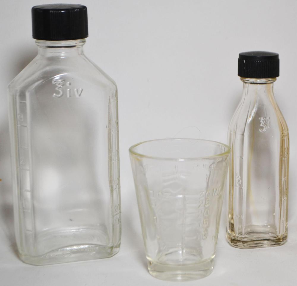 3-Vintage Medical Glass