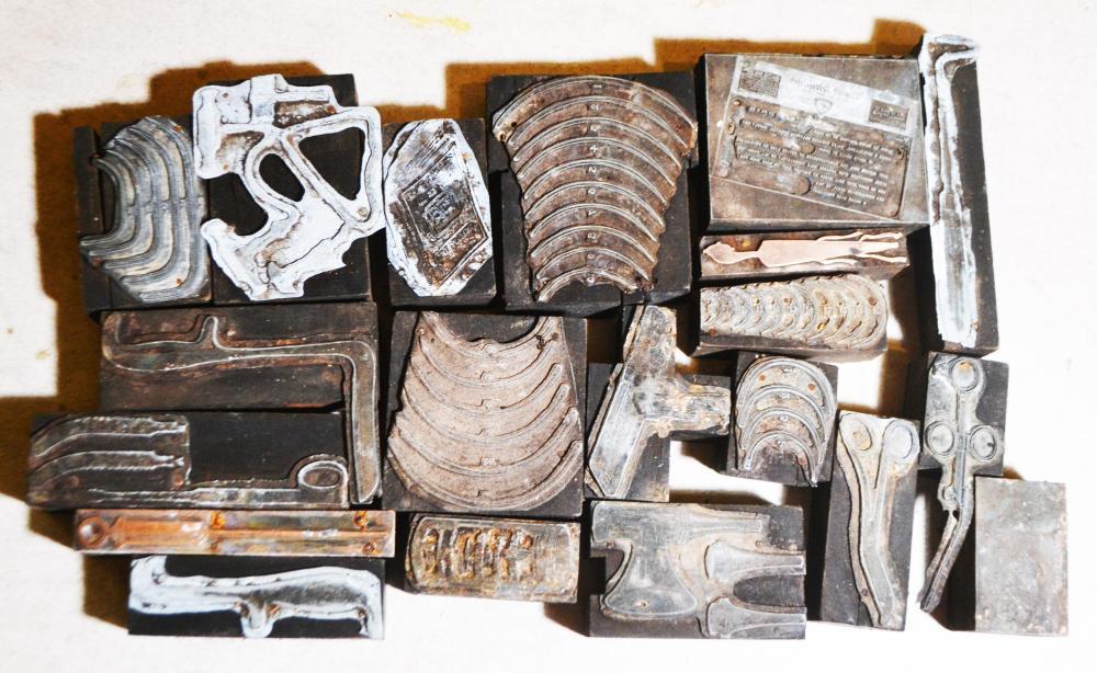 20-Antique/Vintage Medical Printing Blocks