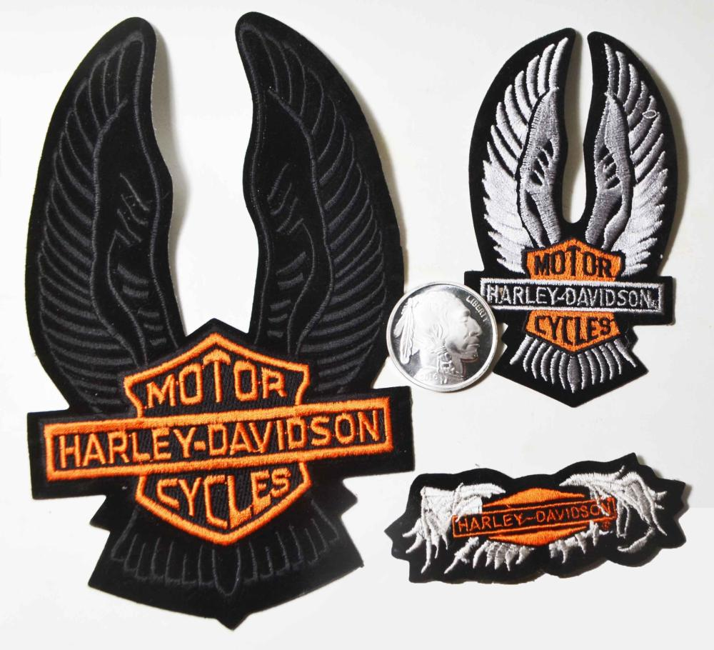 3-Vintage Harley Patches