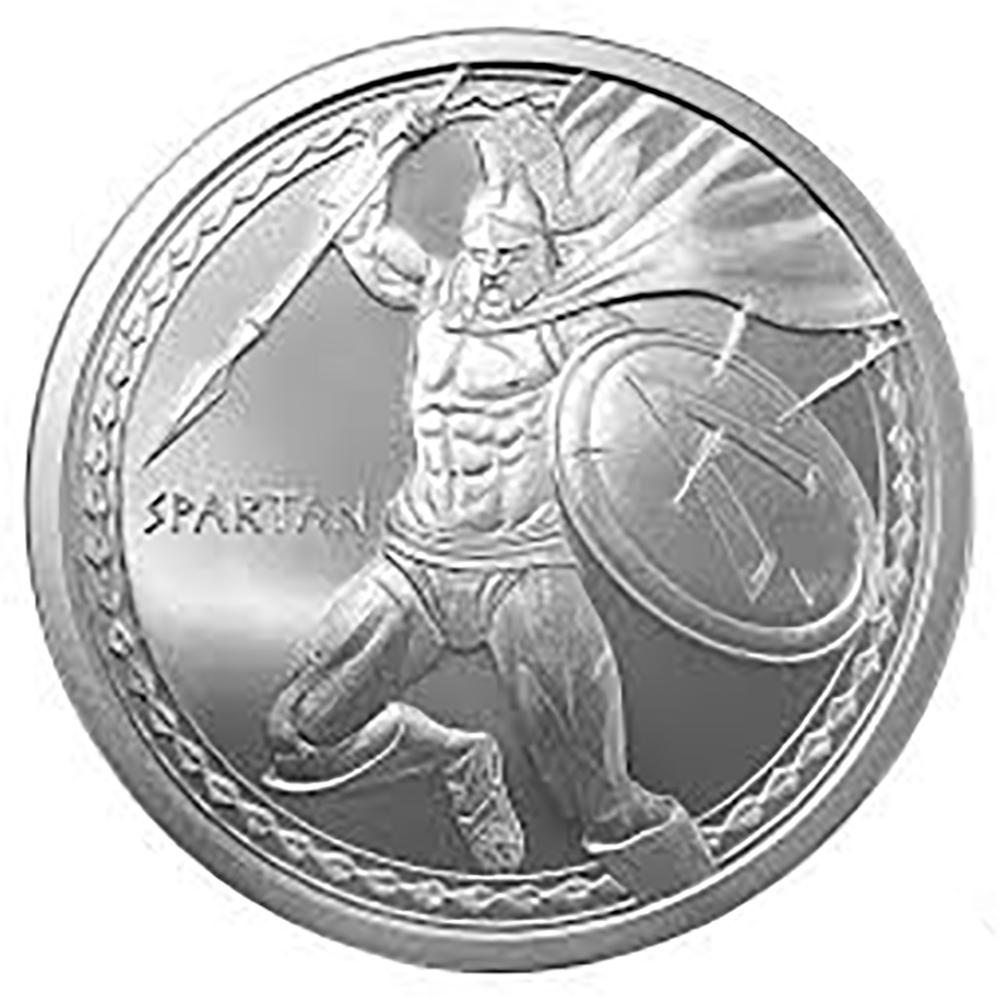 .1 oz.999 Silver-Spartan
