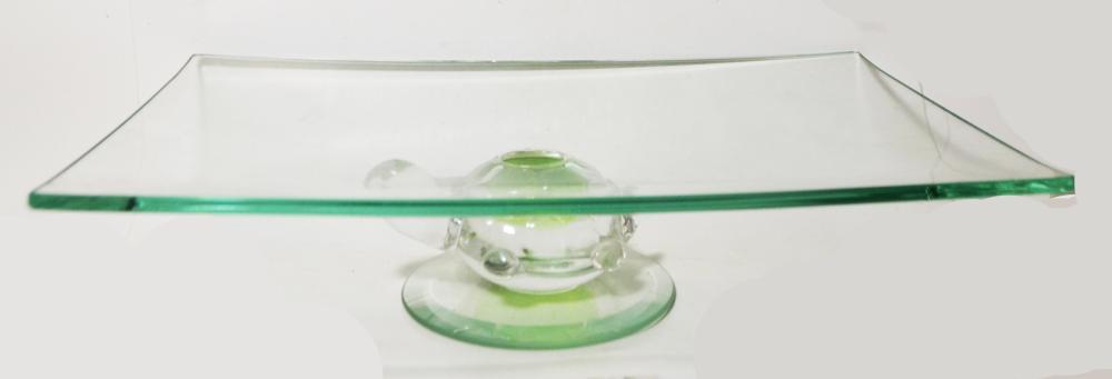 Very Unique Glass Cookie Platter