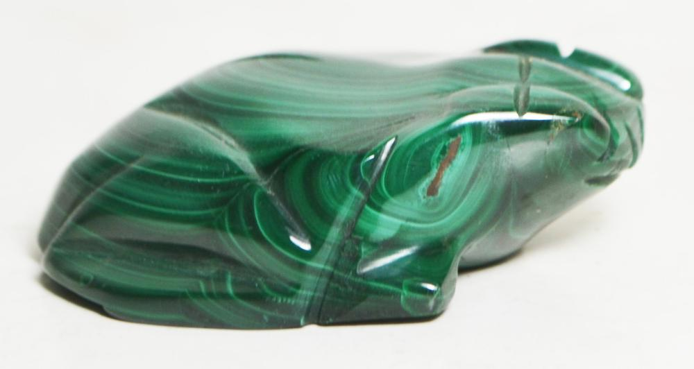 Malachite Figurine-Frog