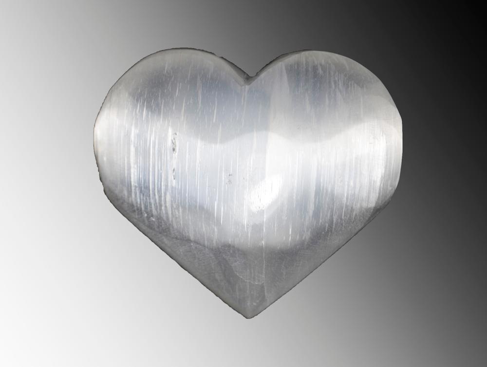 7cm.. Selenite Heart