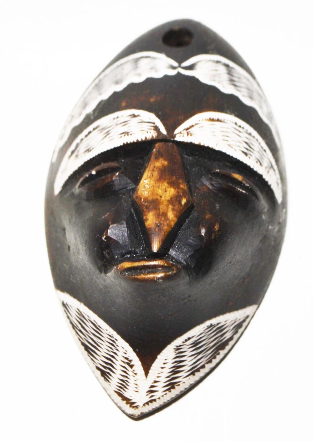African Art-Alabaster,Tribal Mask