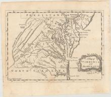 (Map - Colonial Mid-Atlantic United States) A Map of Virginia and Maryland