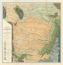 [Lot of 2] Preliminary Map Showing Present State of Knowledge Relating to Underground Waters in the Central Great Plains [and] Preliminary Geologic Map of the Central Great Plains