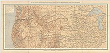 Map of the Northern Pacific Railroad, its Branches and Allied Lines