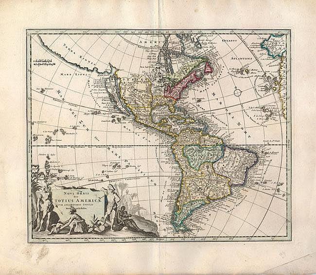 Novi Orbis sive Totius Americae cum Adiacentibus Insulis Nova Exhibitio  Western Hemisphere Christoph Weigel 1725  A