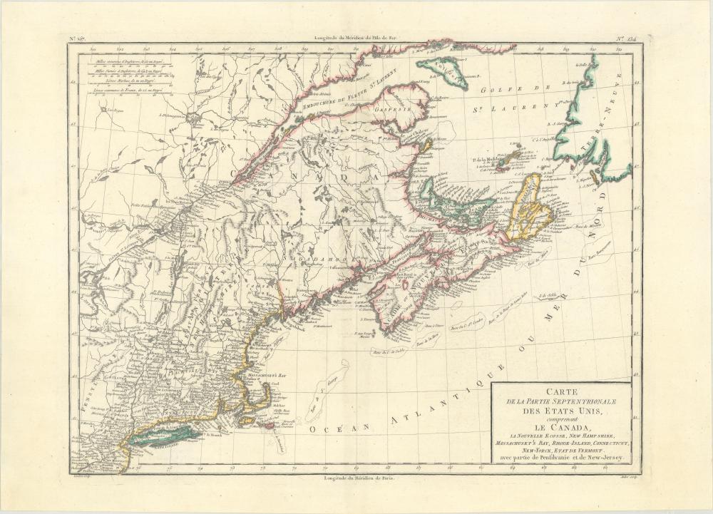 Map - Northeastern United States & Canada) Carte de la ...