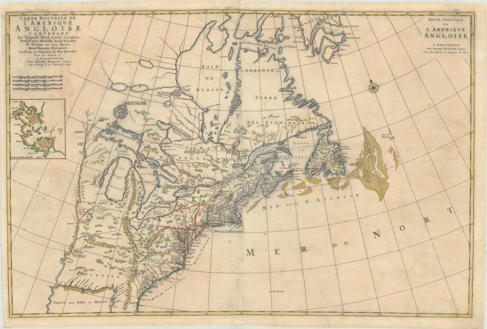 Map - Colonial Eastern United States & Canada) Carte ...