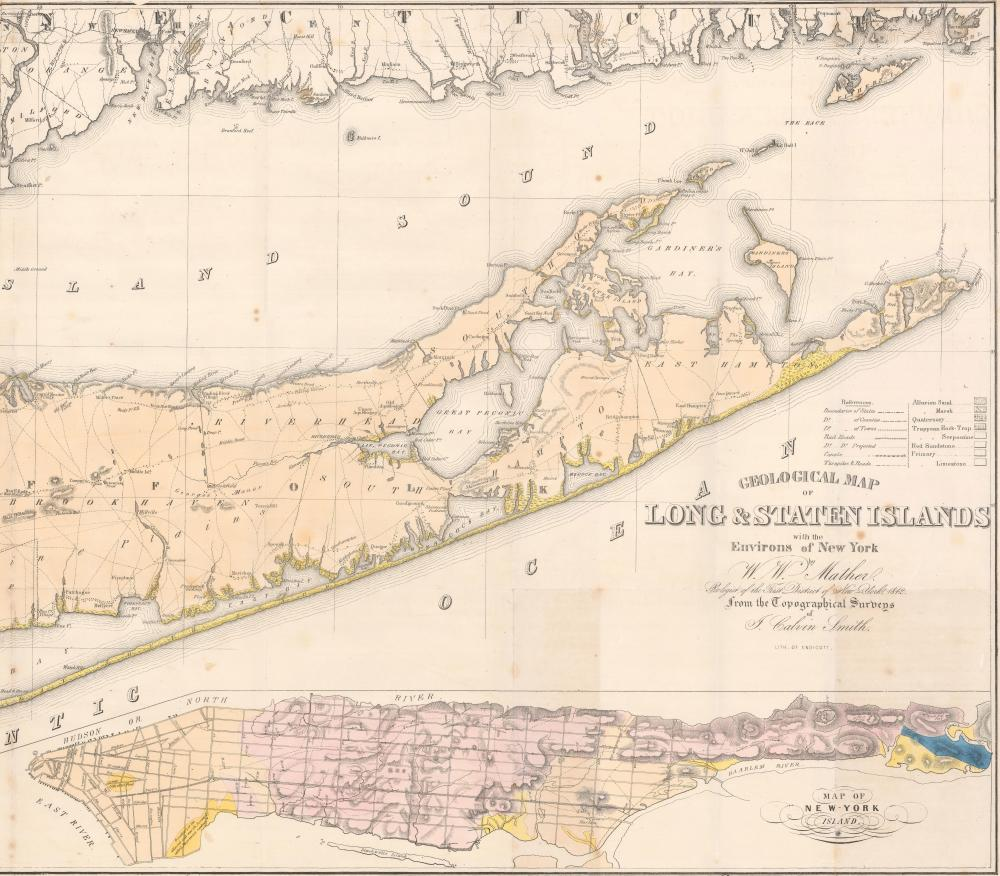 Map Of Southern New York.Map Long Island Staten Island Southern New York Geology