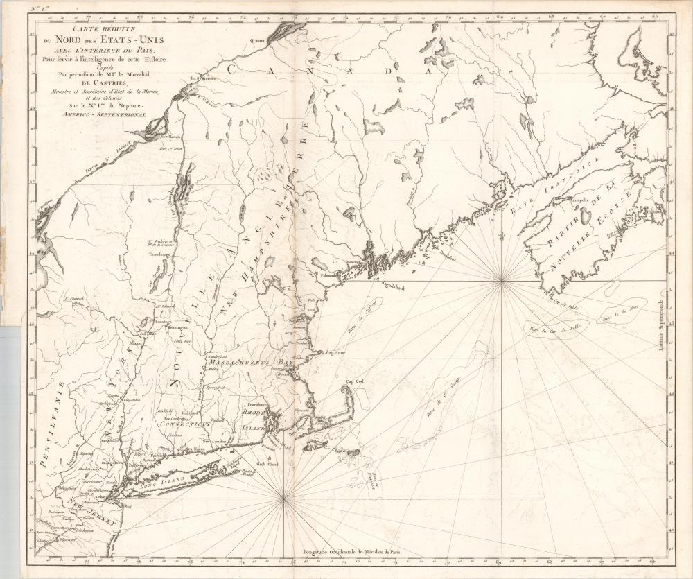 Map - Northeastern United States & Canada) Carte Reduite du ...