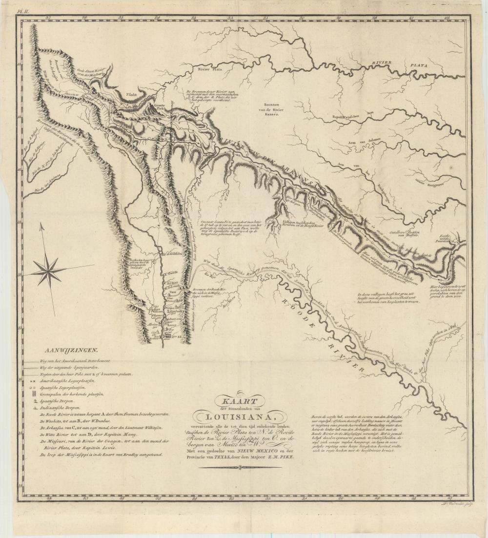 Map - Southwestern United States) Kaart der Binnenlanden van ...