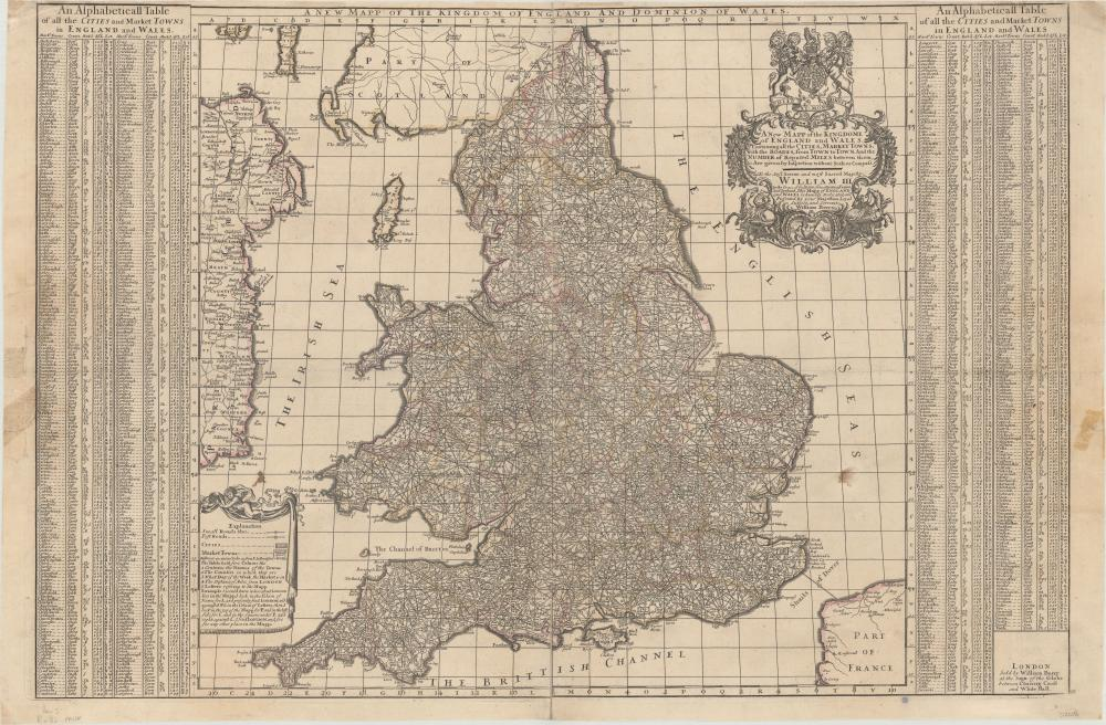 Map Of England Showing Cities And Towns.Map England Wales A New Mapp Of The Kingdome Of England And
