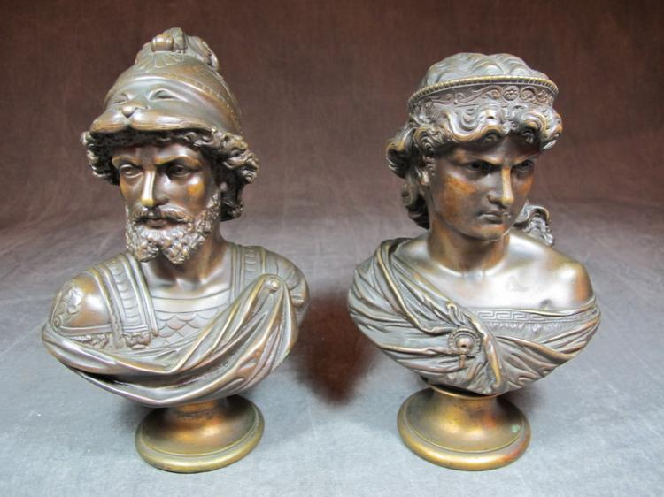 Alfred Pierre RICHARD (1844-1884) pair of busts