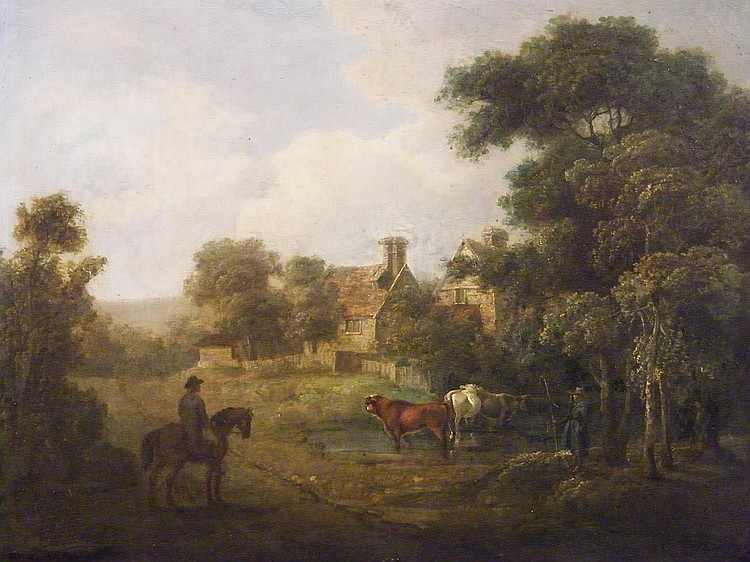 Charles Towne, (1781-1854), Figures and cattle