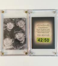 Rare BEATLES Limited ED. Pencil Sketch Art Card