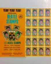 Rare 1964 The BEATLES Un-Cut Postage Stamp Sheet