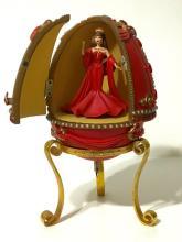 V. RARE Beautiful BARBIE Animated Music Box EGG