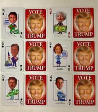 Rare DONALD TRUMP Campaign Trail Caricature Cards