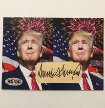 V. Rare DONALD TRUMP Limited Ed. Custom Cut Card