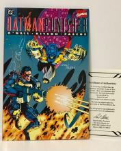Authentic Hand Signed BATMAN/PUNISHER Comic Book
