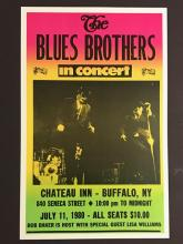 July 1980 The BLUES BROTHERS Live in Concert Poste