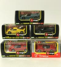 Lot of 5 Early Made in Italy BURAGO Die-Cast Cars